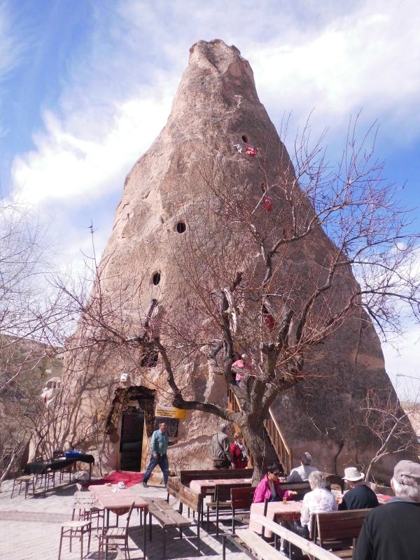 Fairy chimney at the Uchisar Goreme road